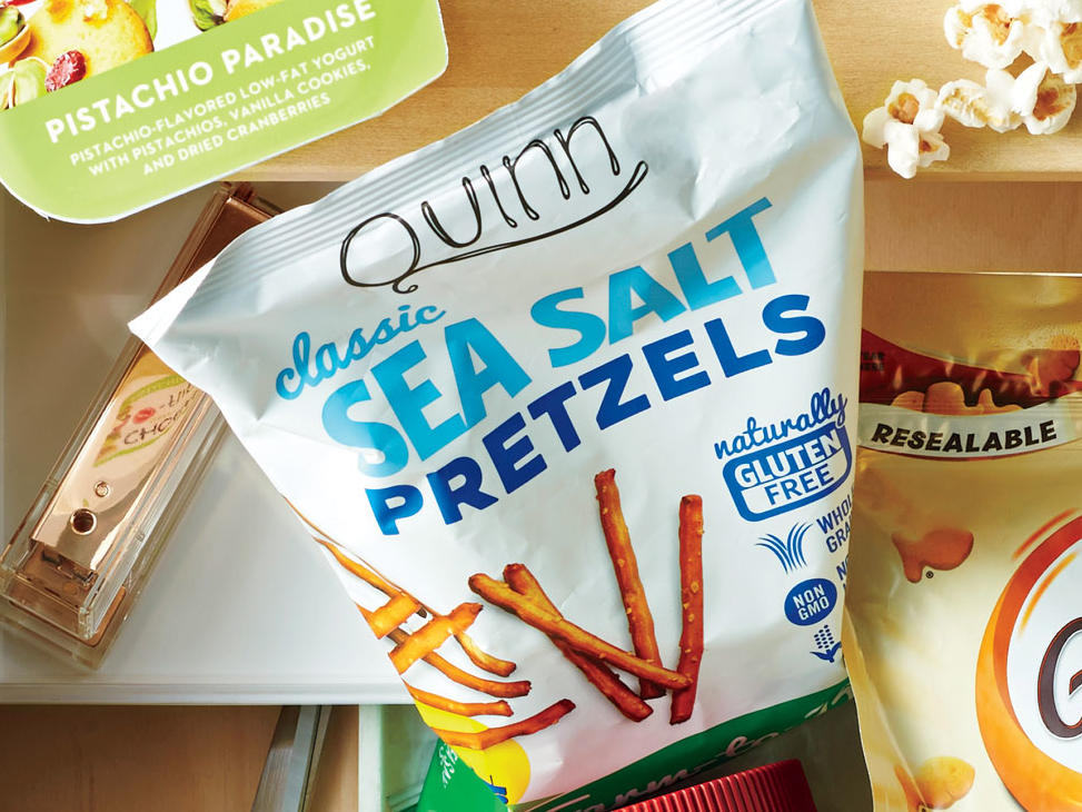 Quinn Classic Sea Salt Pretzels are crispy, delicate, and have a true sea salt flavor. In addition, they are gluten-free. Unlike other pretzel varieties, Quinn pretzels have no genetically modified corn starch or soy lecthin and are a tasty, allergen-free snack. 