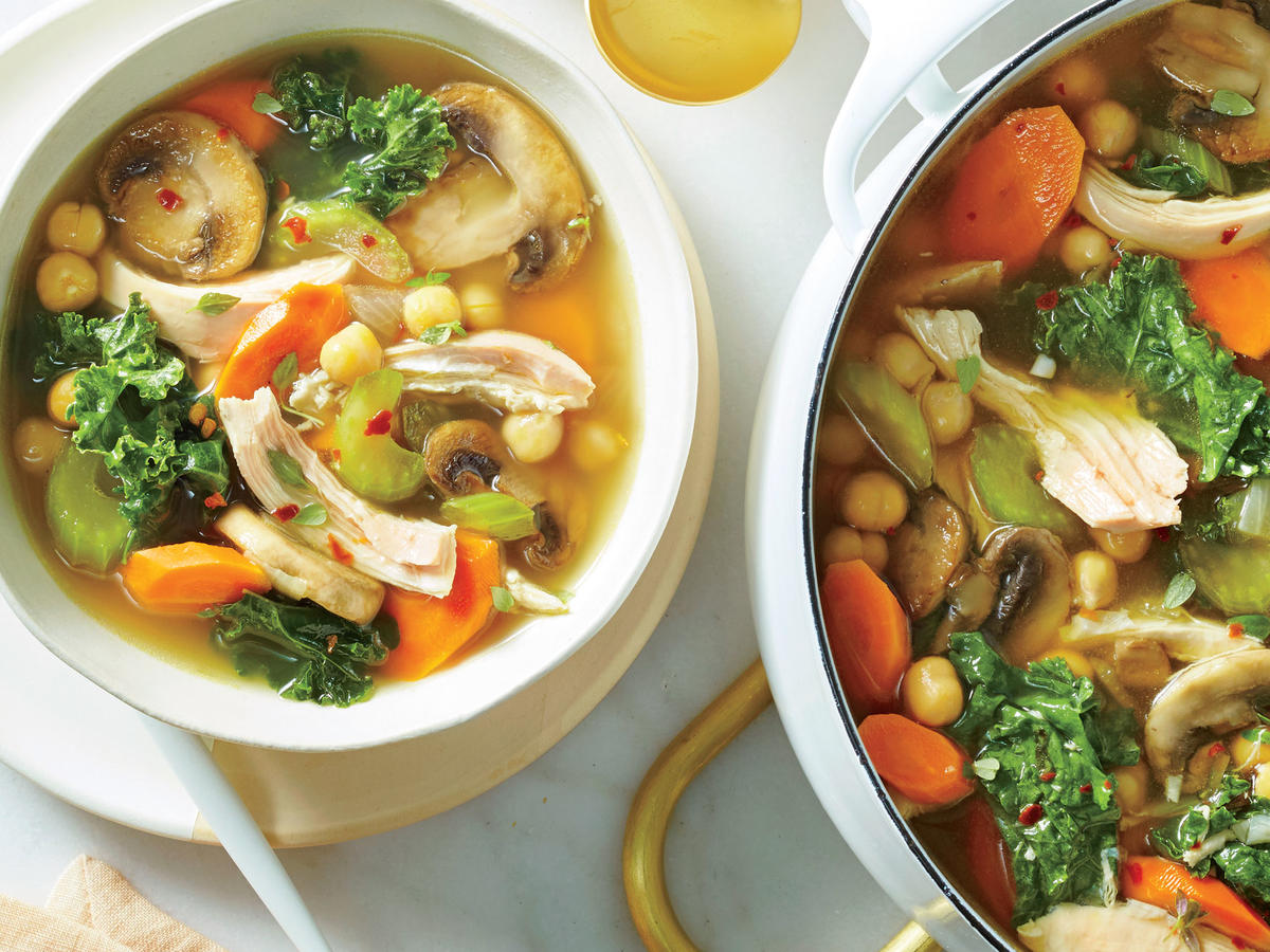 A healthy immune system doesn't come from vitamin C alone; you need a calibrated combination of different nutrients. Certain foods in particular bolster your defenses not only during cold and flu season but all year long. This soothing, hearty soup combines six immunity-boosting ingredients, making each bowlful a prevention powerhouse.
