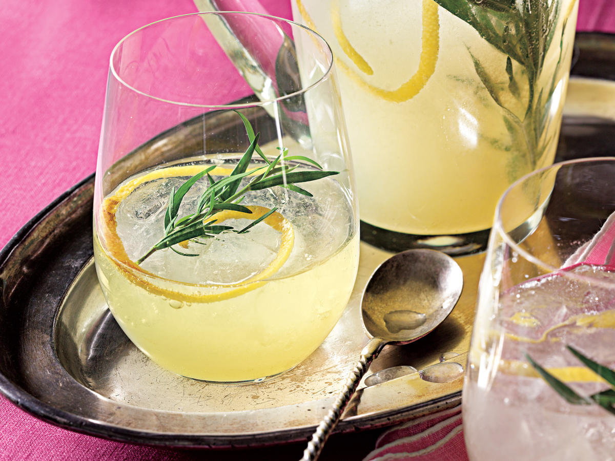 Loosely based on the French 75, a classic cocktail of gin, Champagne, lemon juice, and sugar, this sparkling beverage uses lemonade concentrate as a shortcut. Be sure to allow the concentrate to thaw ahead of time.