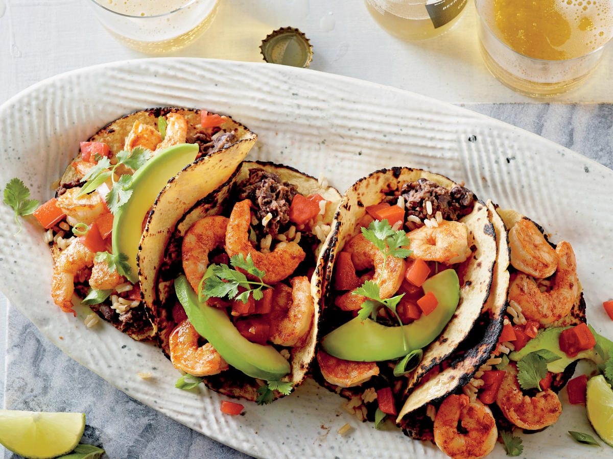 Shrimp and Black Bean Tacos