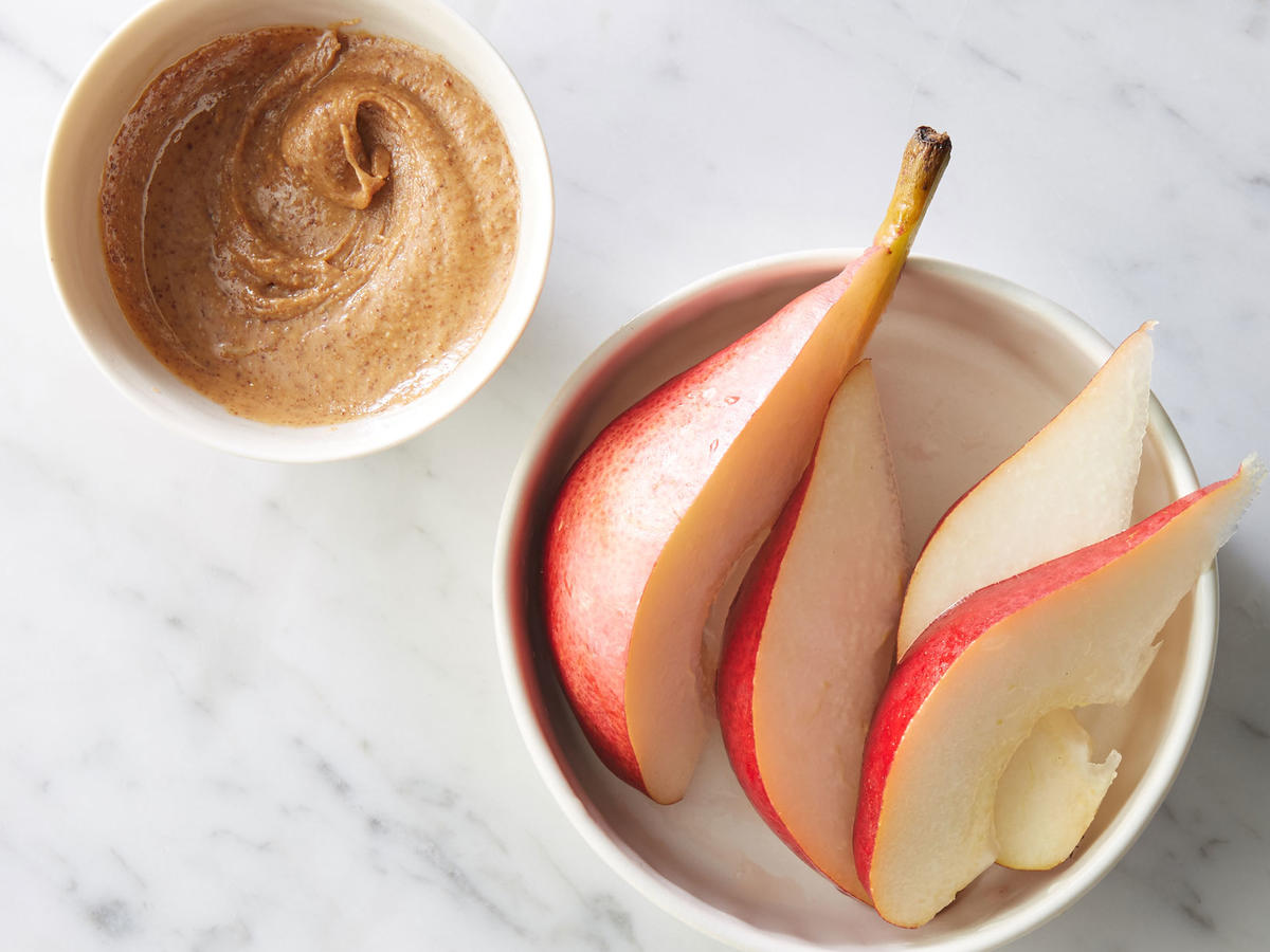 Snack: Apple or Pear with Almond Butter