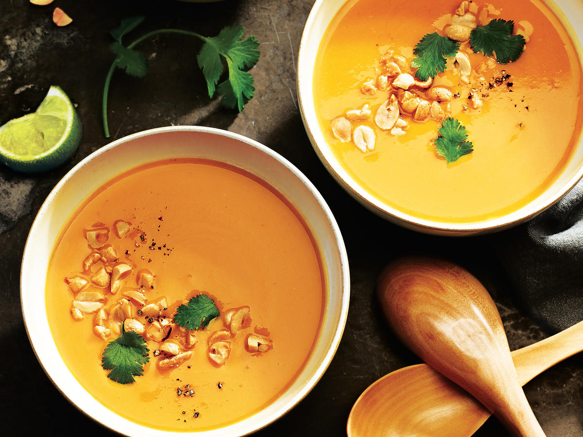 If you can't find frozen pureed squash, you can cook this soup with 4 cups cubed butternut squash. Just add 5 extra minutes to the cooking time in step 2.