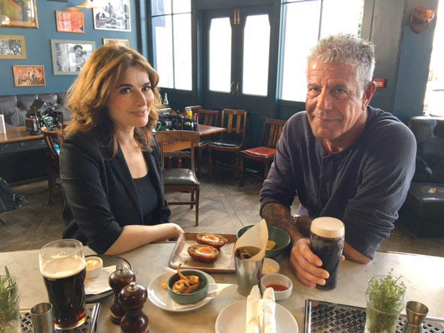 Anthony Bourdain and Nigella Lawson