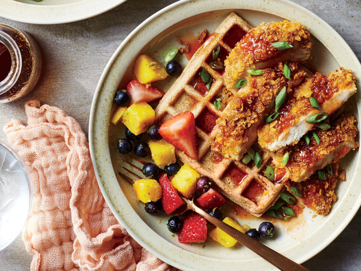 If ever a breakfast-meets-dinner combo were to go viral, chicken and waffles would be it. The mash-up actually dates back a couple hundred years, and we can guess why—the sweet, crunchy, and salty trio was surely just as crave-worthy then as it is now.