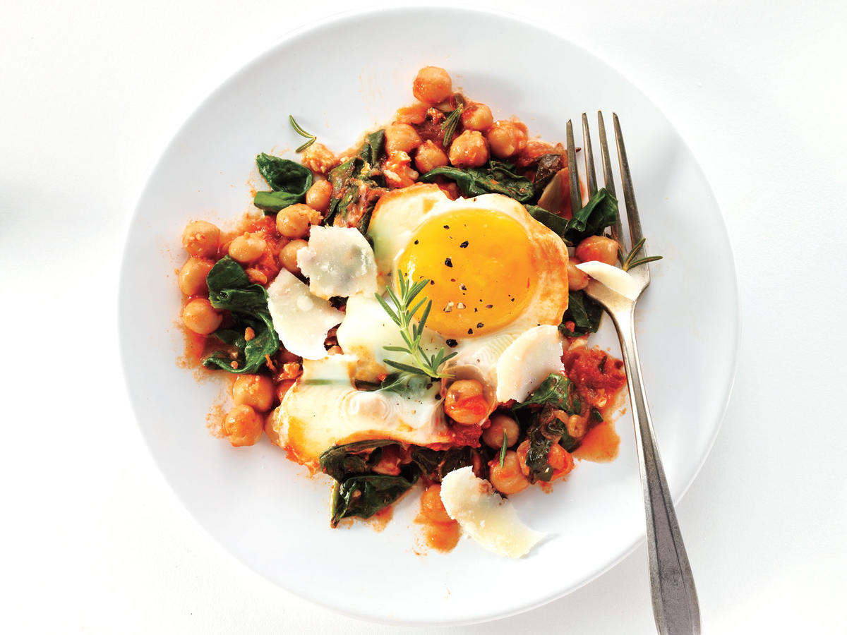 If you can find them, use farm-fresh eggs to make this quick one-skillet ­supper really shine.