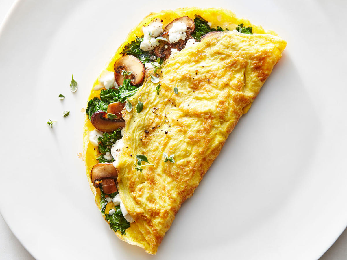 Half-Moon Browned Omelet