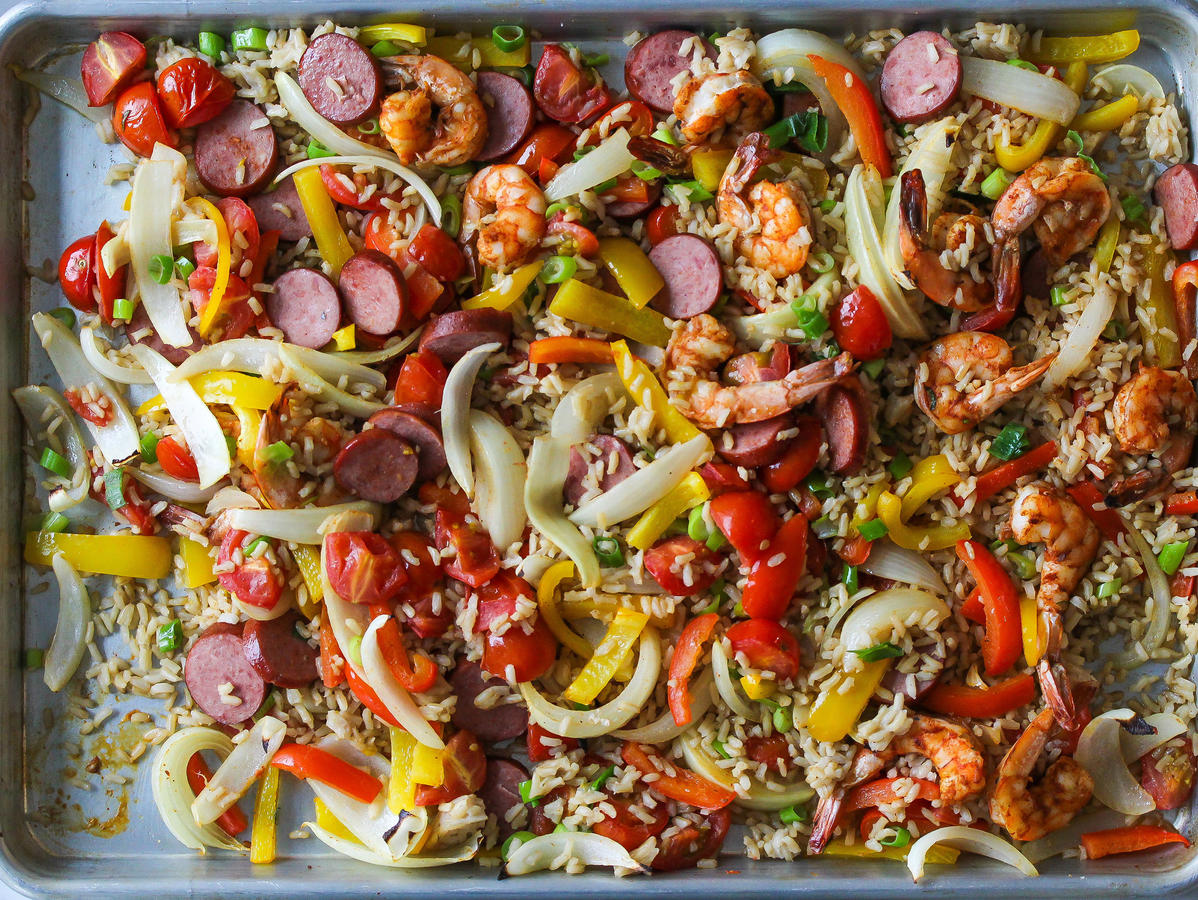 Sheet Pan Jambalaya