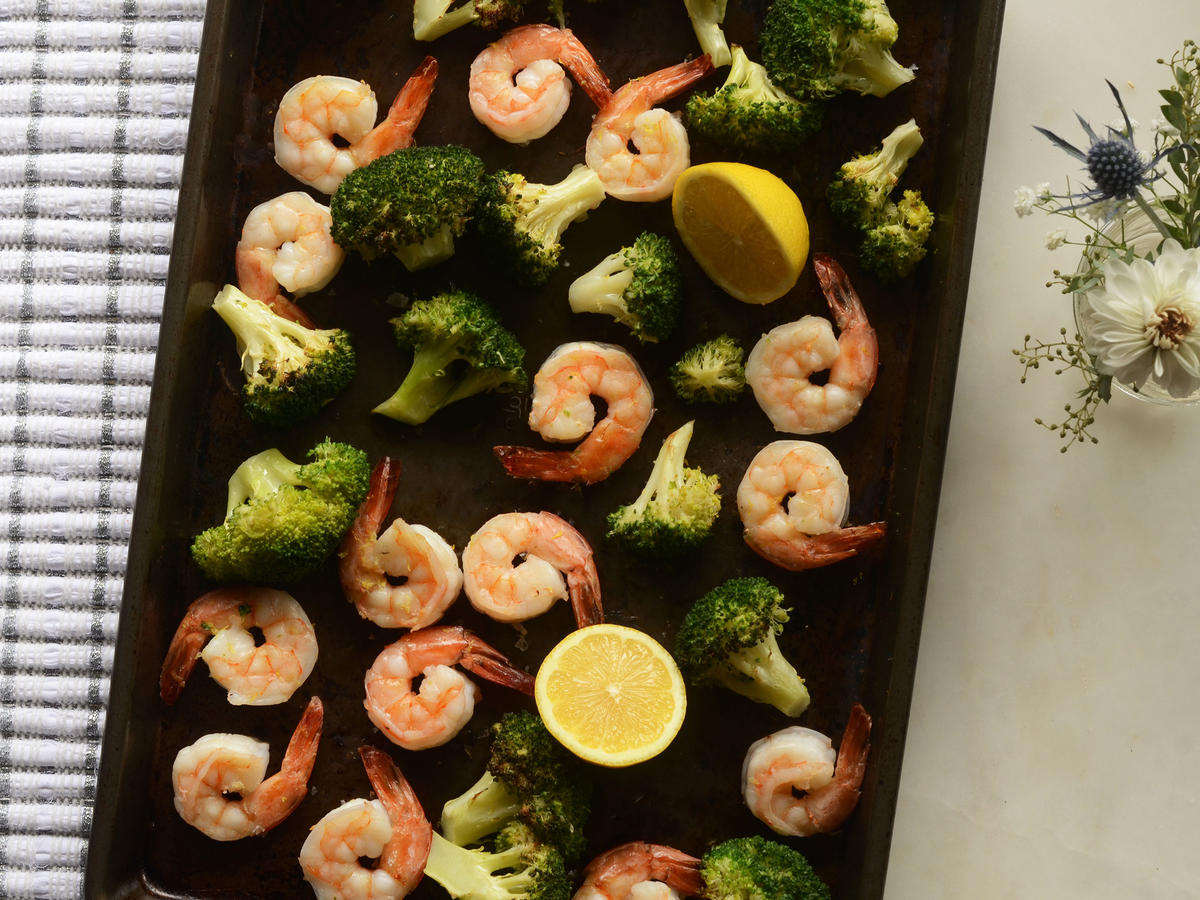 Get dinner on the table quickly tonight by simply roasting shrimp and broccoli together for a quick, flavorful meal.