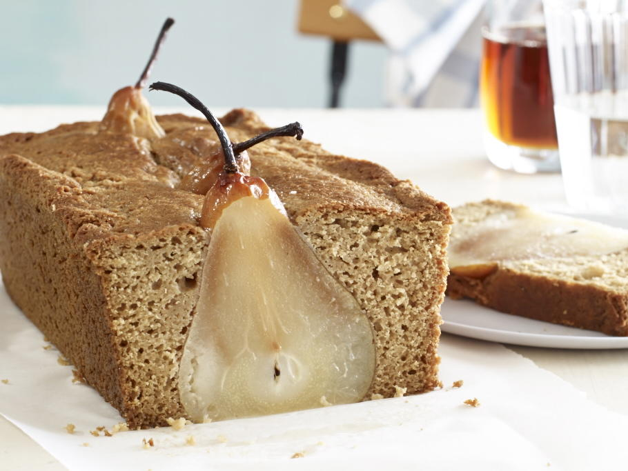 Poached Pear Bread