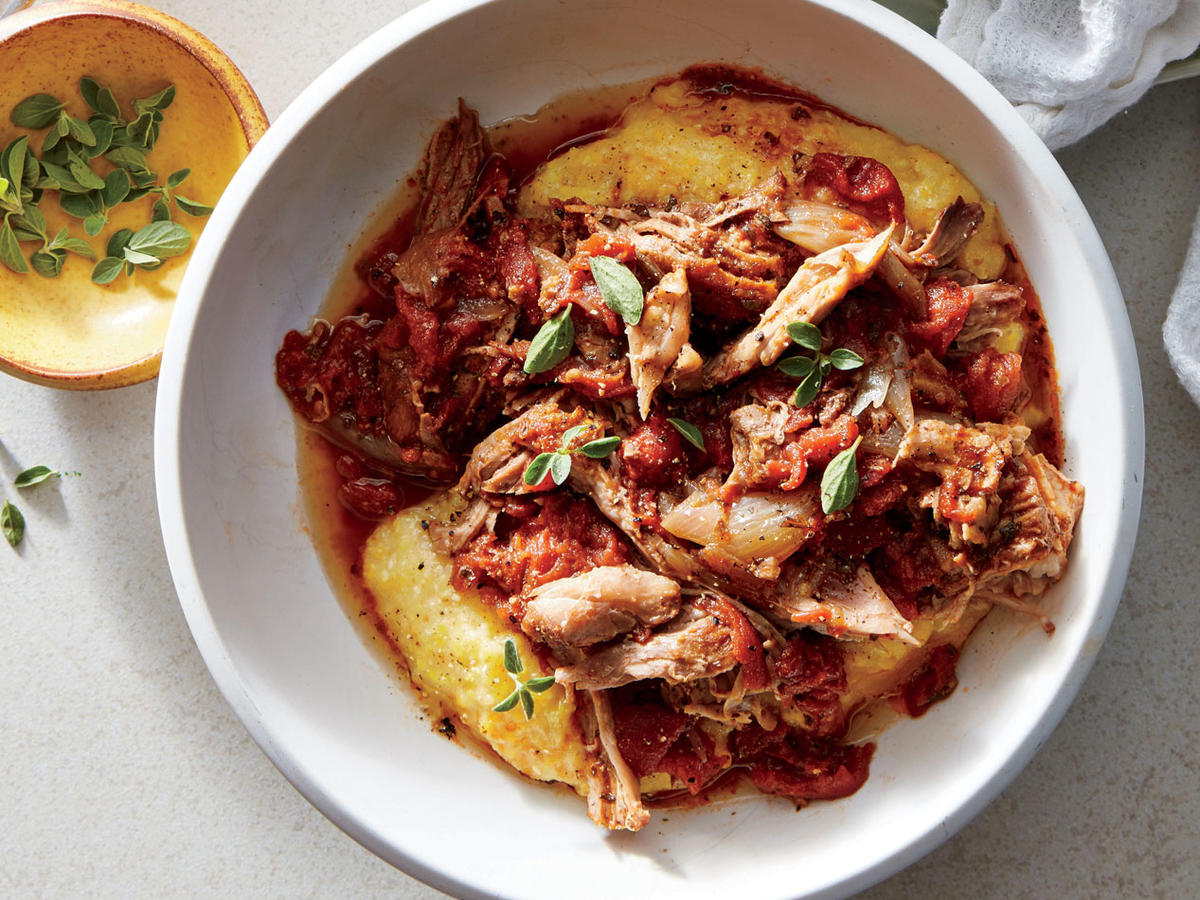 Create a flavorful, golden crust on the pork roast by browning it well before placing it in the slow cooker. Red wine, tomatoes, and plenty of aromatics enrich the ragù with savory depth as it cooks low and slow.
