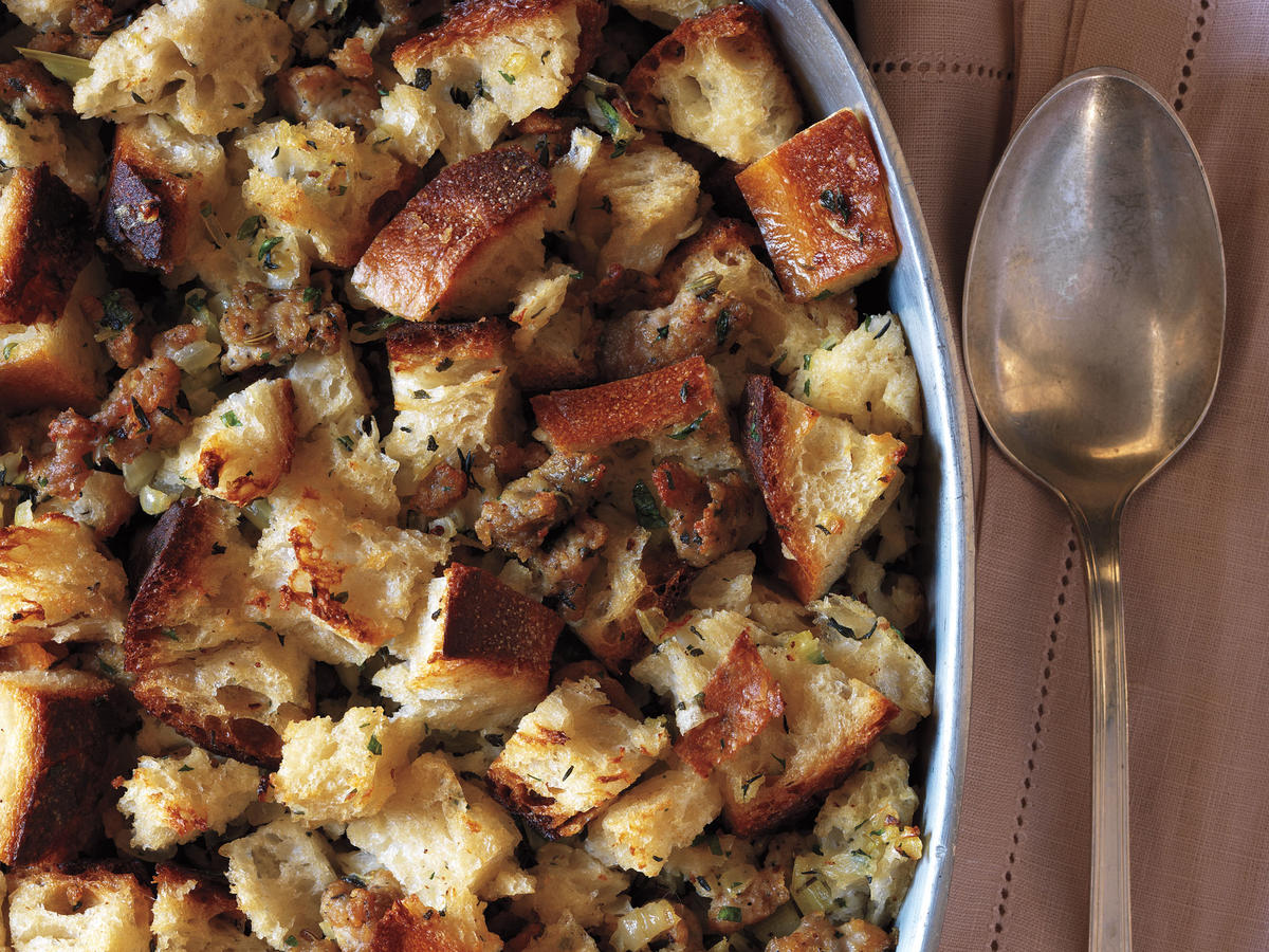 We'll start our journey with a rustic stuffing. Holiday foods are some of the most nostalgic of our family traditions. Don't leave this favorite off the table.