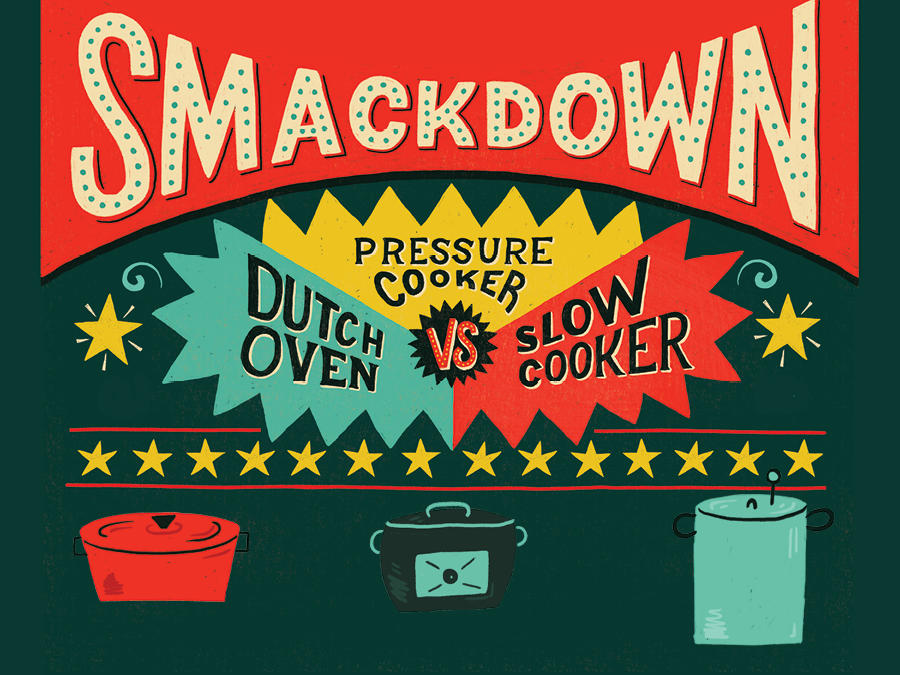 Showdown Slow Cooker Versus Pressure Cooker Versus Dutch Oven