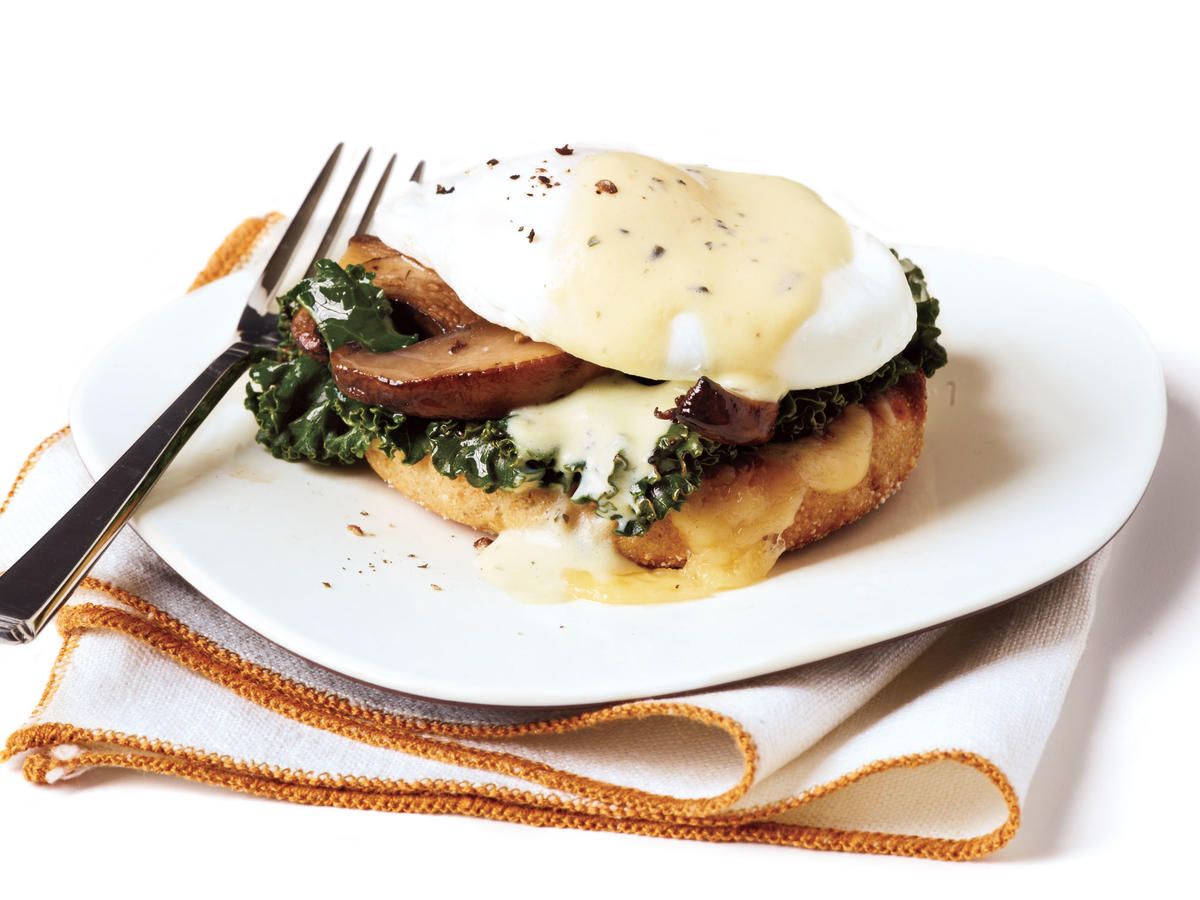Vegetarian Benedicts with Thyme Sabayon