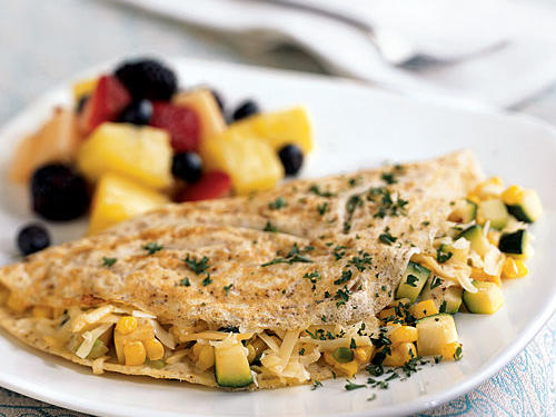 "The texture and flavor of this summery omelet is unmatched. ""The smoked gouda lends a lot of flavor and the corn gives it a nice texture and a subtle sweetness that complements the smoky richness of the cheese,"" explains northcountrycook. The ingredients are best in the summer but are still available at your grocery store year round."