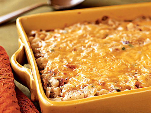 If you're looking for an all-purpose dish that will feed a crowd, this is the recipe for you. All the work can be done a day ahead. When you're ready to serve, just pop it in the oven for 30 minutes.