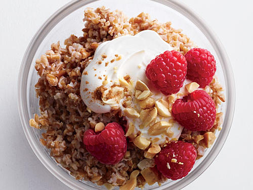 Crunchy Peanut Butter Bulgur with Berries