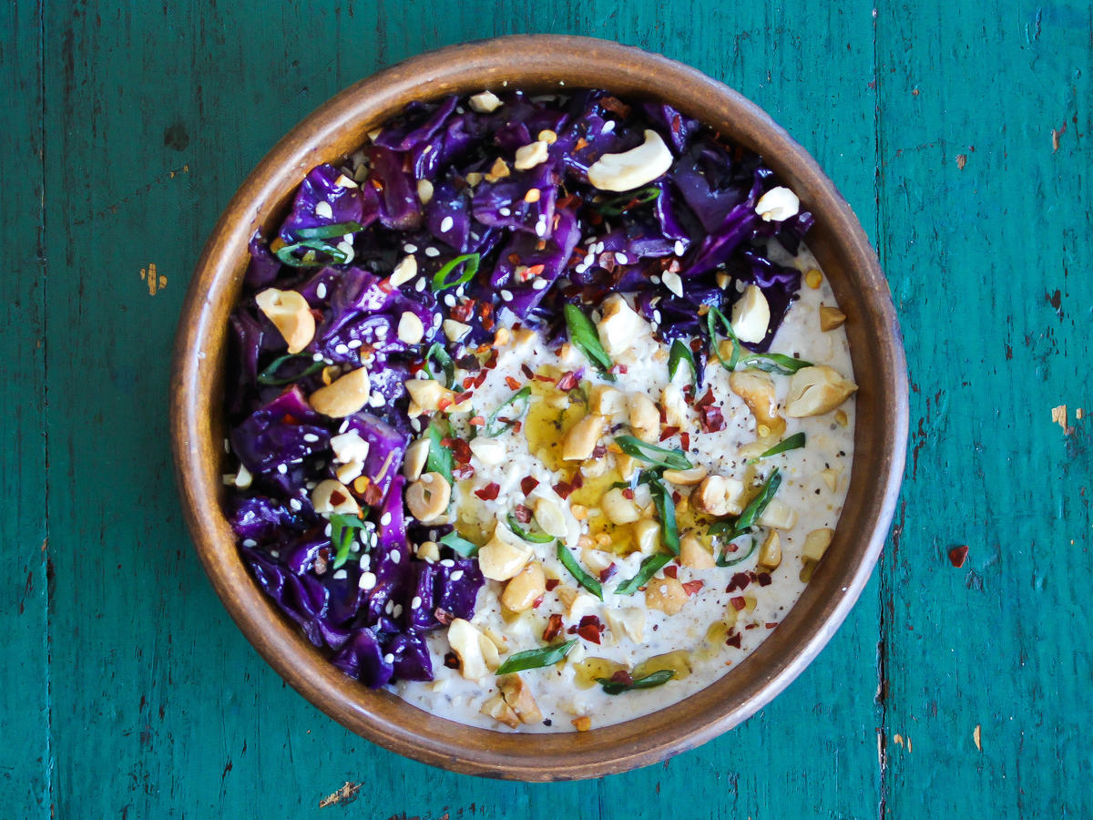 Cabbage Cashew Overnight Oats