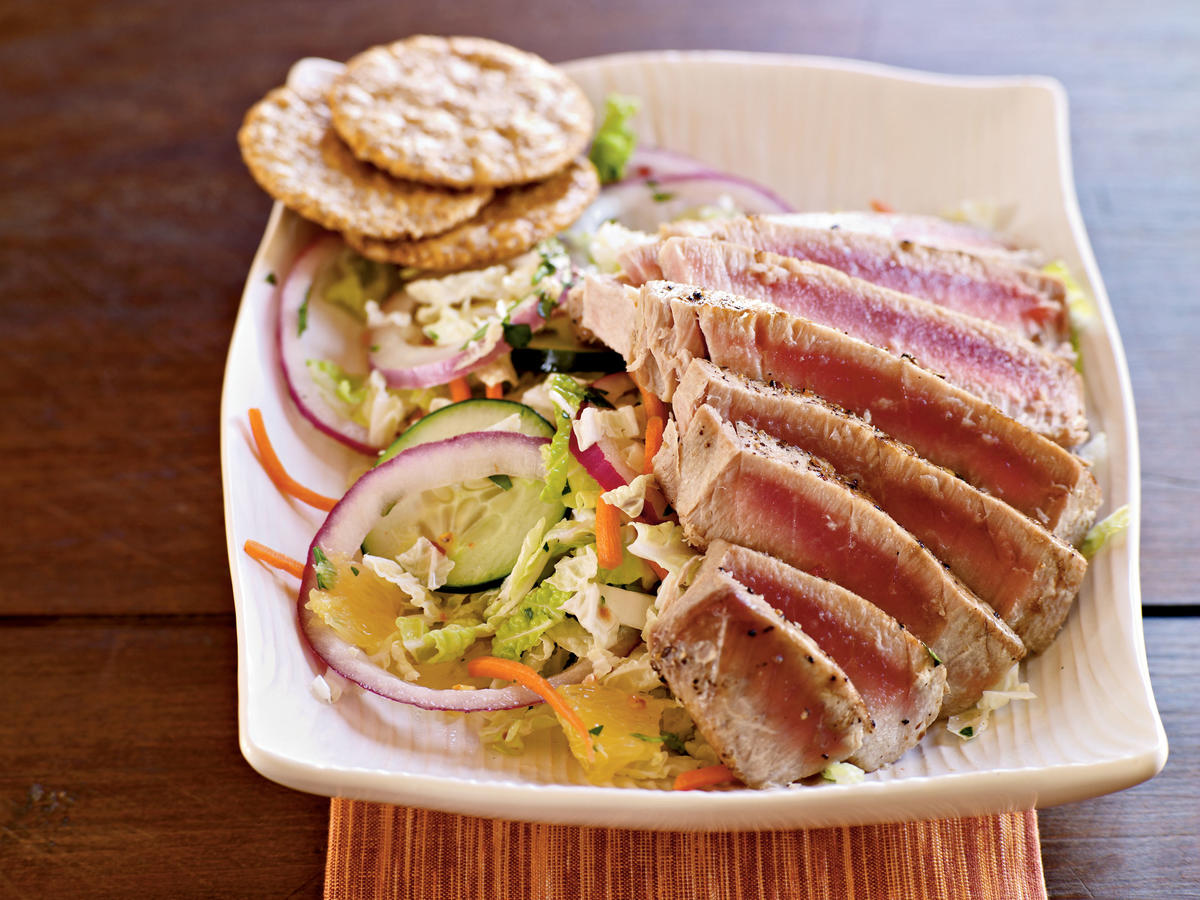 Pan Grilled Thai Tuna Salad