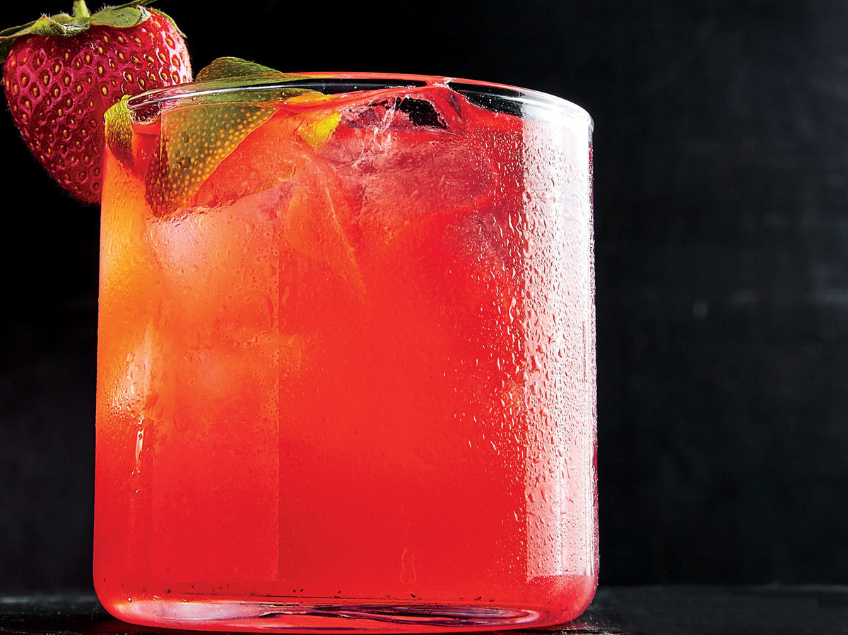 We give the gin rickey—a classic warm-weather cocktail—a seasonal twist with an infusion of ripe strawberries. Full fruit flavor balanced by bracing gin and spritzy soda water is a tasty way to ring in spring.