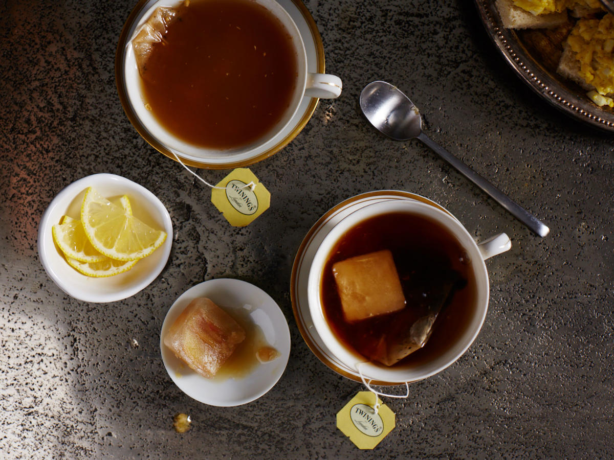 Tea with Ginger-Citrus Ice Cubes