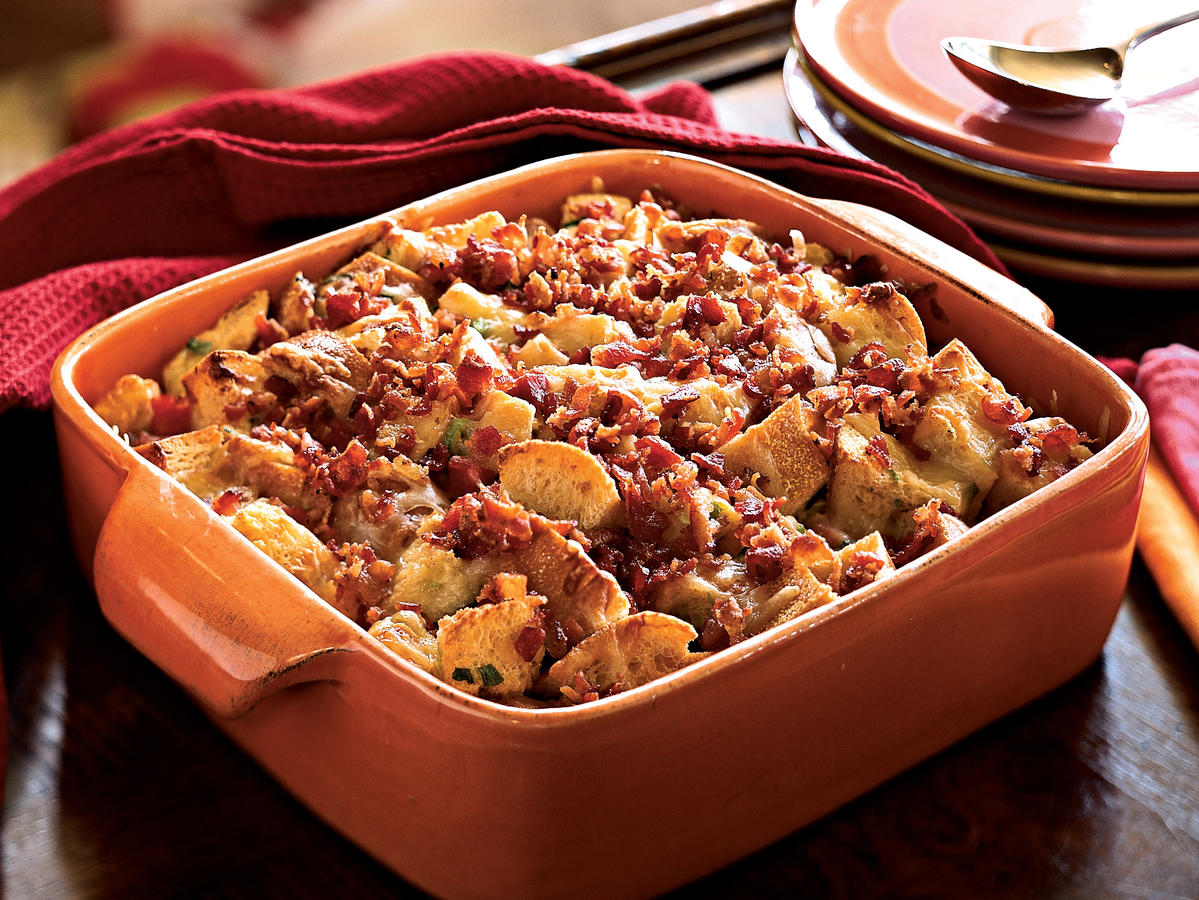 This casserole is easy to prepare, especially if you purchase diced ham from your supermarket. Gruyère is a type of Swiss cheese. Its sweet nuttiness enhances this dish, though you can substitute Edam, Gouda, or even cheddar cheese.