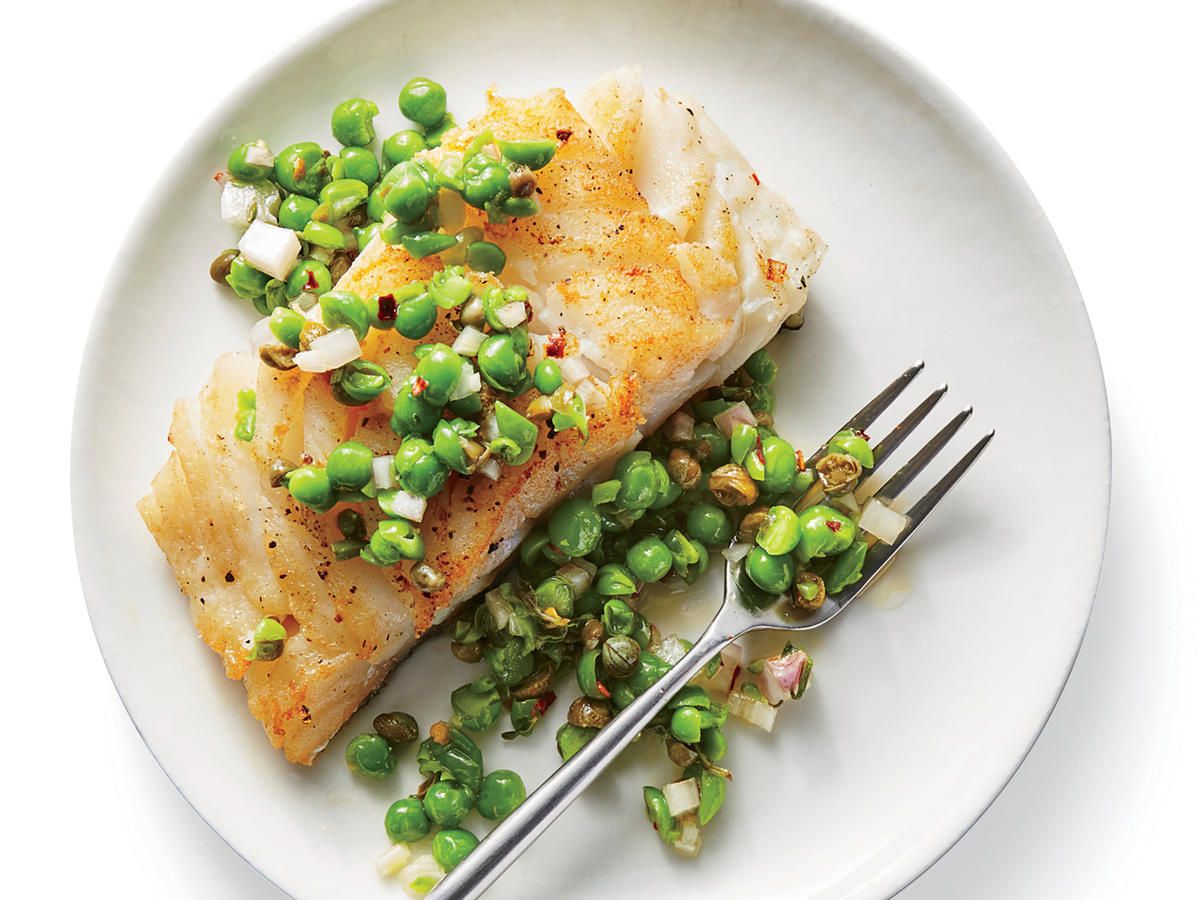 Cod With Herbed Pea Relish