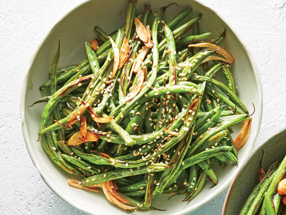 Garlic-and-Sesame Green Beans