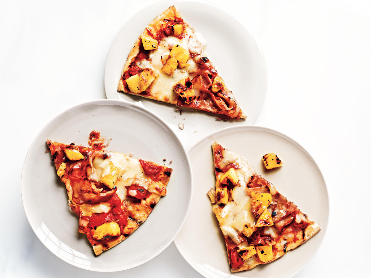 A Kid in the Kitchen: Grilled Ham and Pineapple Pizza