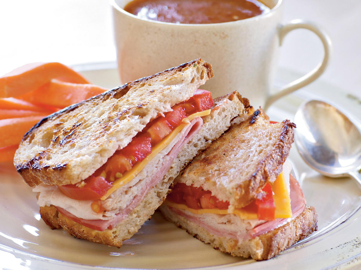 Grilled Turkey and Ham Sandwiches