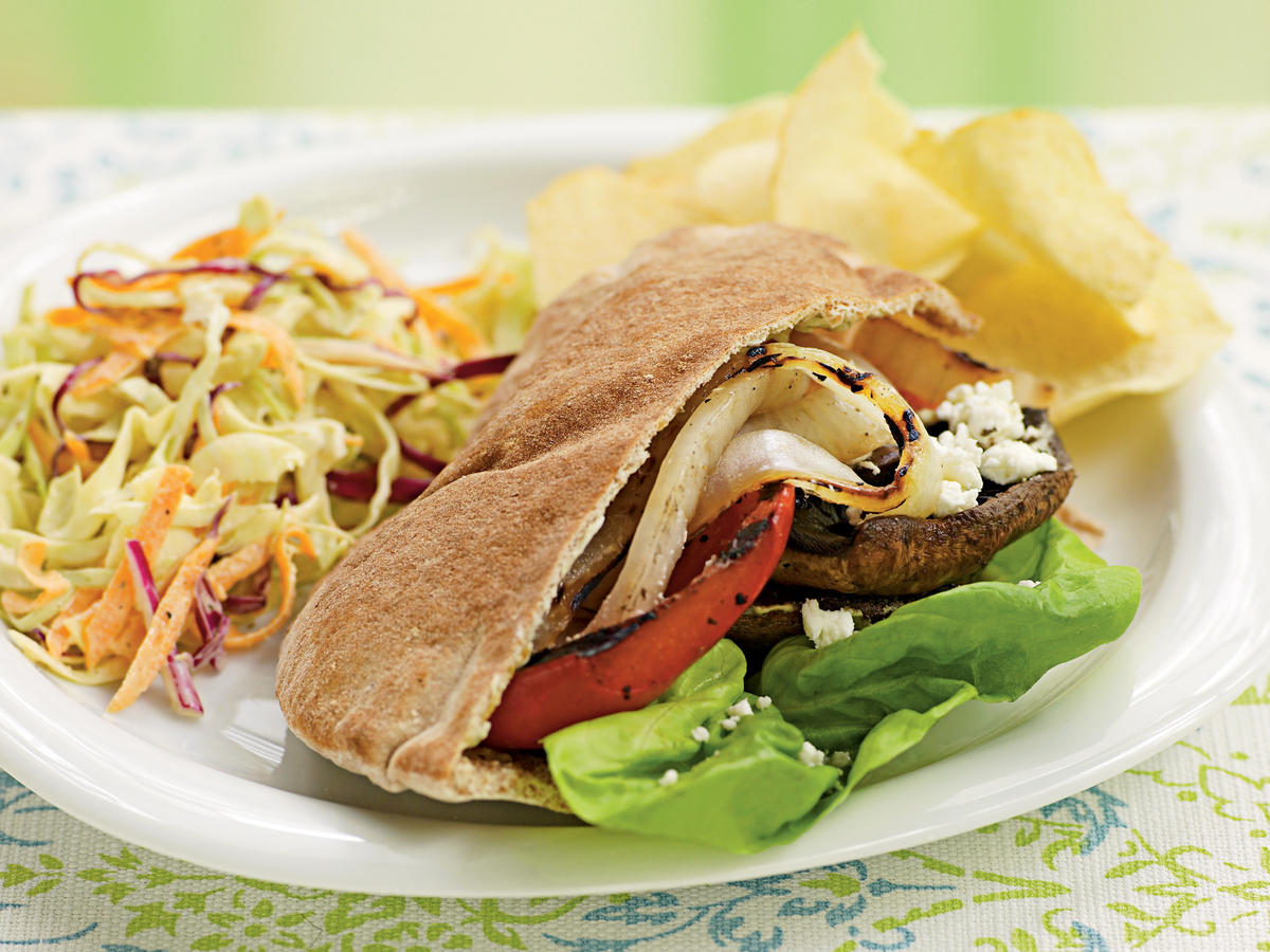 Top-Rated Vegetable Recipe: Grilled Vegetable Pitas with Goat Cheese and Pesto Mayo