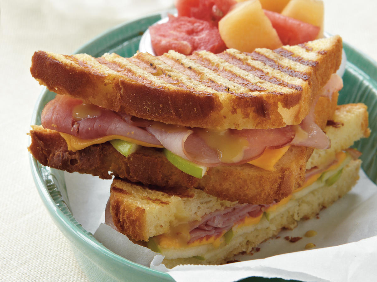 Ham, Cheese, and Apple Panini