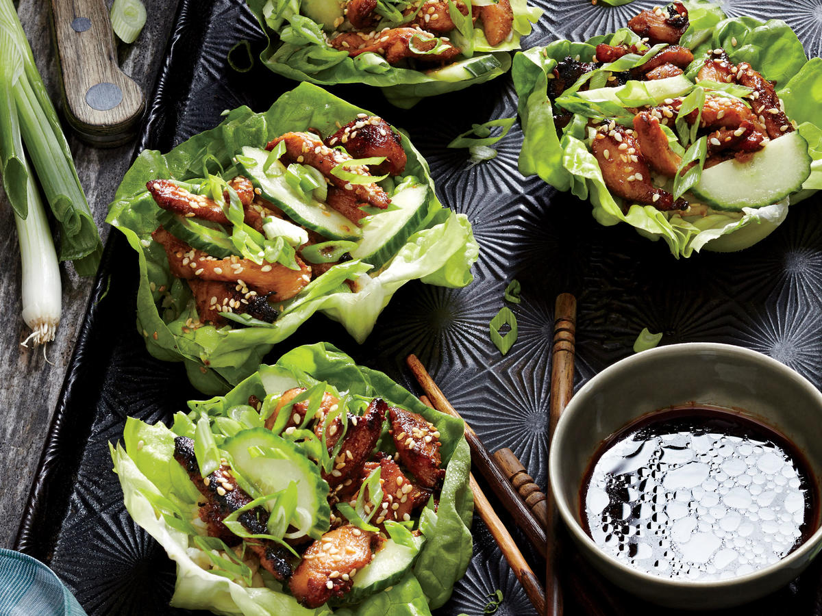 Walker Big Lot >> Korean Chicken Lettuce Wraps Recipe - Cooking Light