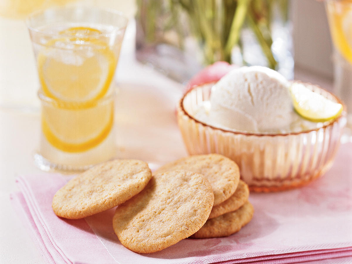 Ground ginger and grated lemon zest lend a subtle spice to a humble base of cornmeal and all-purpose flour. These light and unpretentious cookies make a guilt-free indulgence, with just 55 calories apiece.
