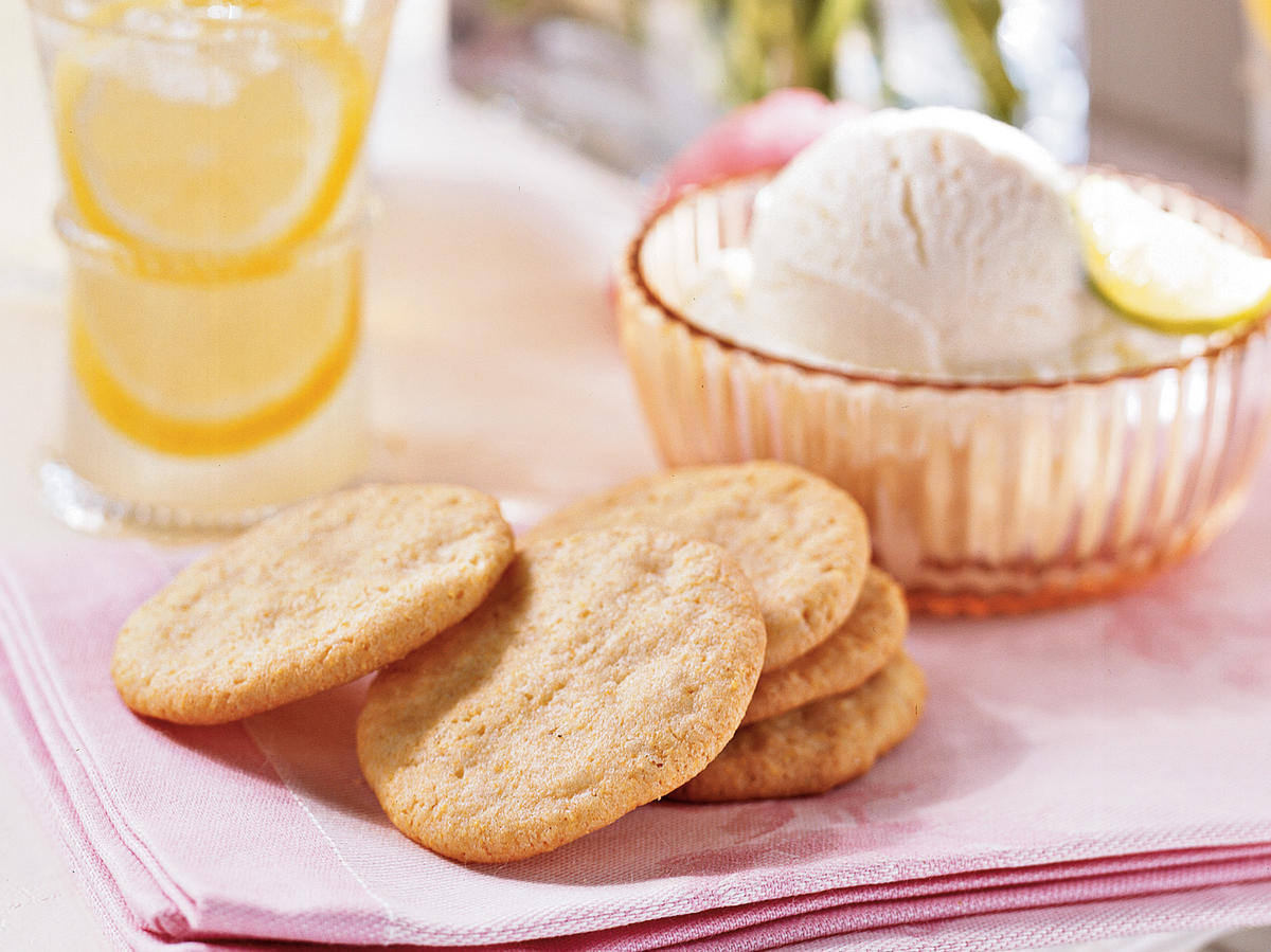 "Humble ingredients in these cornmeal-based cookies yield a light, subtly spiced sweet treat. The touch of lemon is a ""refreshing surprise,"" says one reviewer."