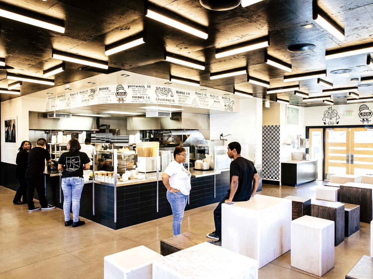 Inside LocoL Fast Food Restaurant