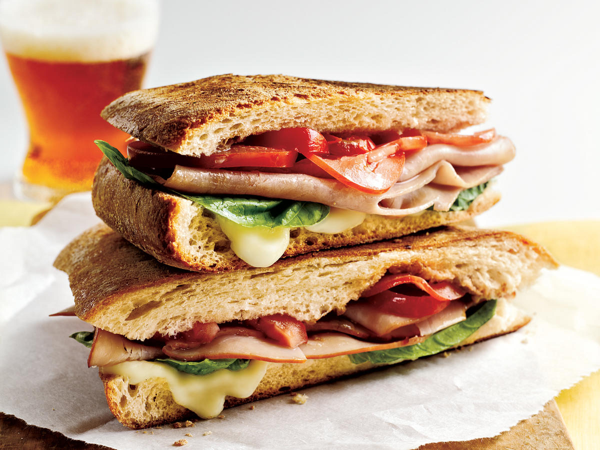 Mozzarella, Ham, and Basil Panini Comfort Food Recipe