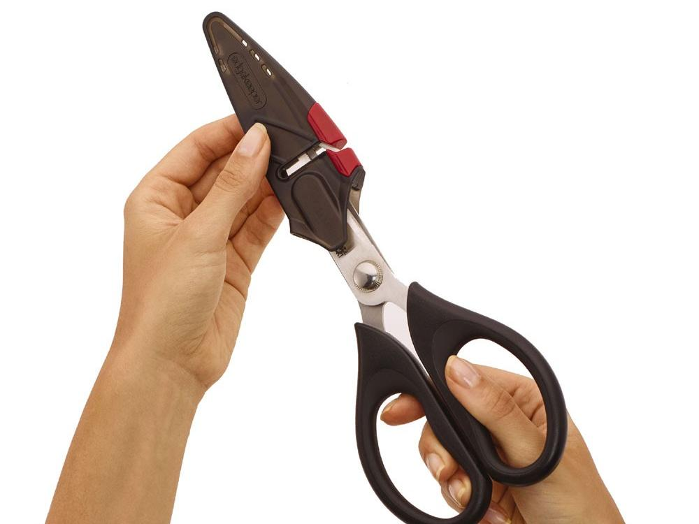Sabatier Edgekeeper Shears with Self-Sharpening Sheath