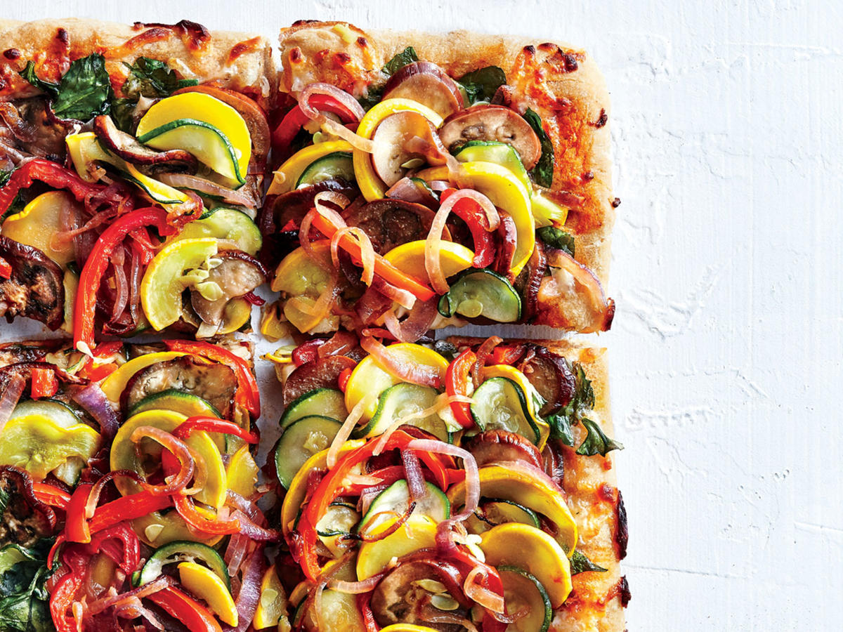 Supremely veggie pizza recipe cooking light forumfinder Image collections