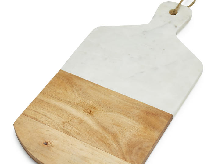 Sur La Table Marble and Wood Cheese Paddle