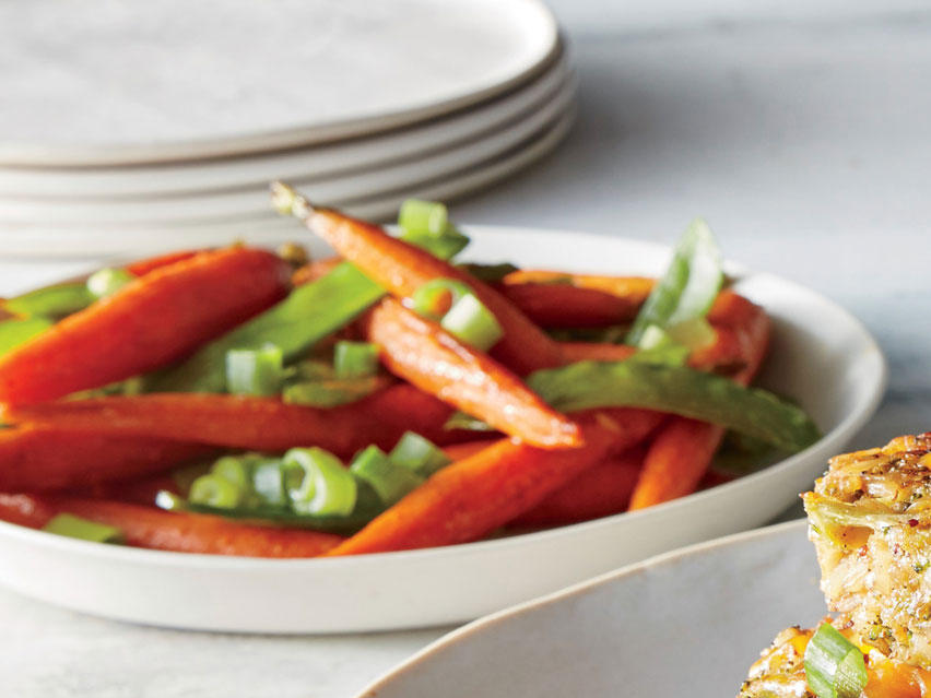 Sweet-and-Spicy Carrots and Peas