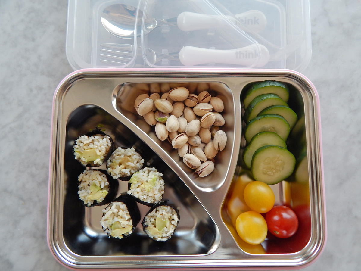 The GO2 Container is perfect for on-the-go eaters and vaguely reminiscent of a classic TV dinner tray. Sturdy enough to be thrown into a backpack or briefcase, the container is made with a stainless steel liner and sealing top to keep all three sections divided. With a built-in space for a spoon and fork, along with a non-skid bottom, the GO2 Container makes packing lunches for teens or adults a breeze. $25-29, amazon.com