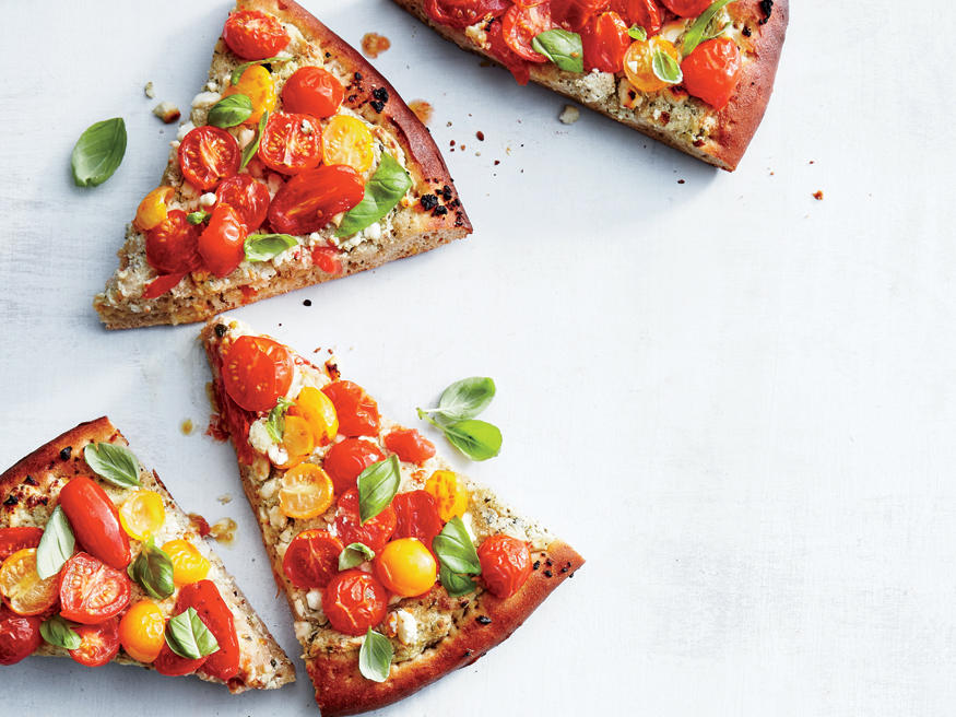 Friday: Tomato-Ricotta Pizza