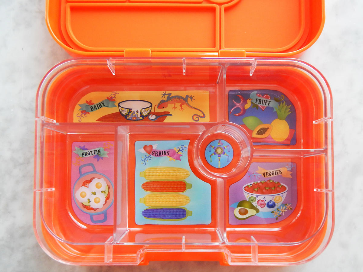In addition to carrying lunch, the Yumbox wants to help teach kids to choose a healthy variety of foods. Each box features  a great visualization of proper portions. Yumbox's options feature four or six compartments, depending on which model you choose, and the different sections feature whimsical drawings to represent different food groups. Protein, grains, vegetables, fruit, and dairy are all labeled, with a little bonus spot for a sweet treat. $30, amazon.com