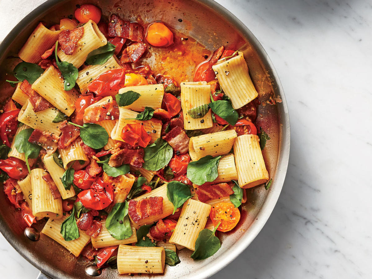 BLT Pasta- Sunday Strategist