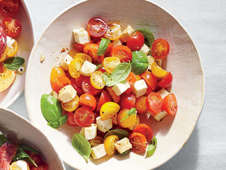 A fun, summery tomato salad.