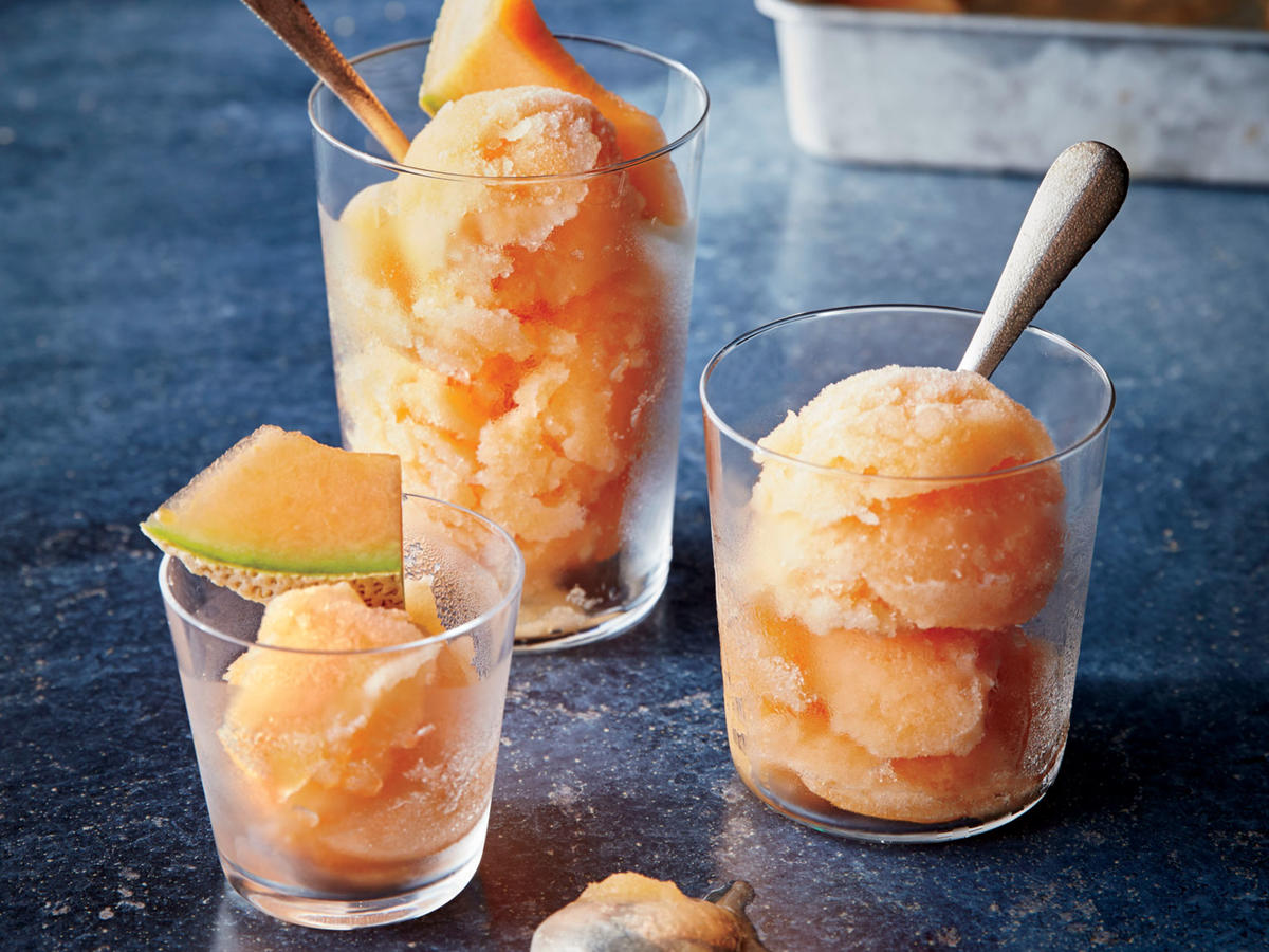 This sorbet is refreshing with an almost creamy texture. The white balsamic vinegar is subtle, but it adds depth of flavor that enhances the melon.