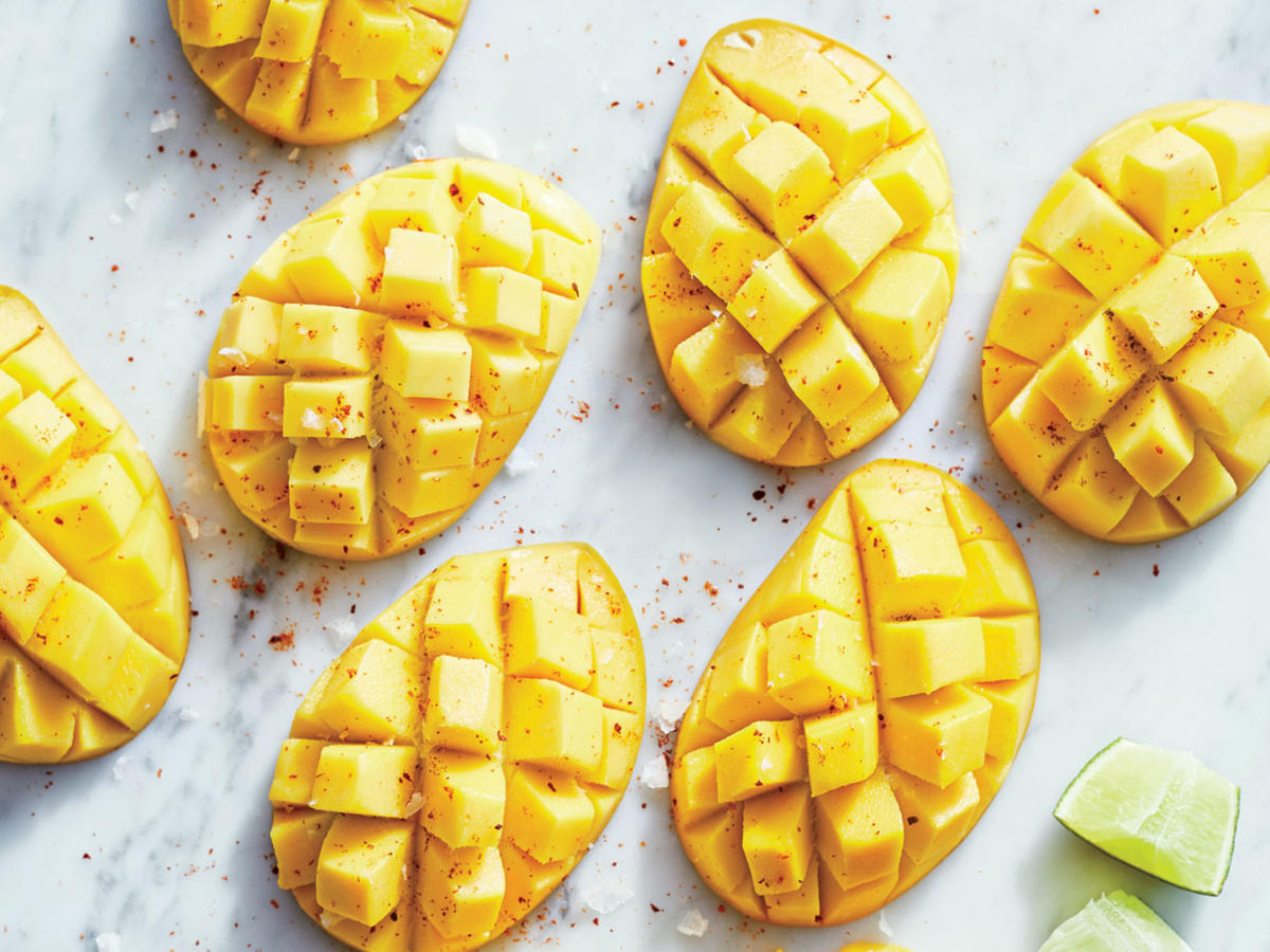 Champagne Mangoes with Lime and Sea Salt Recipe