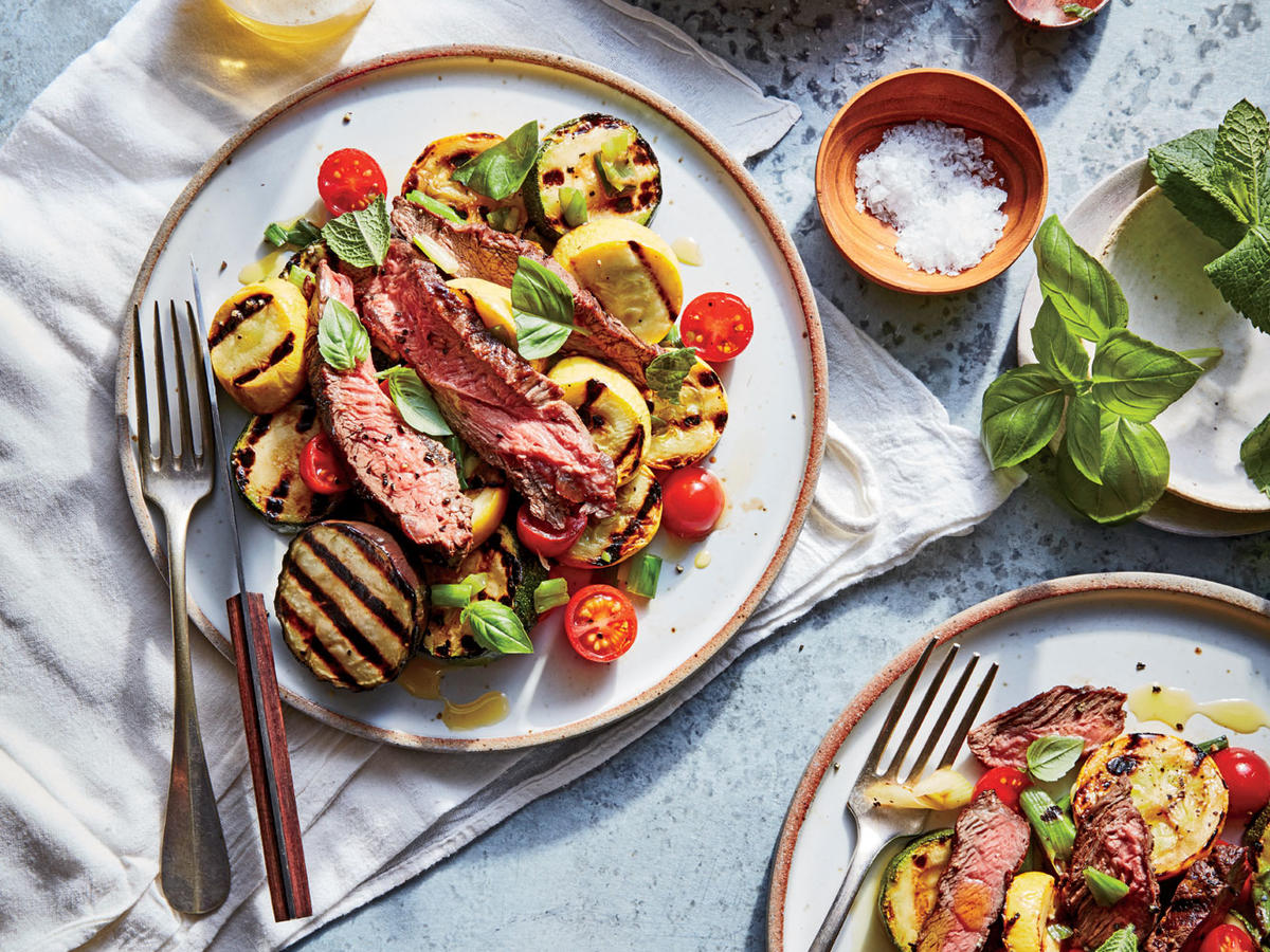 Grass-Fed Flat Iron Steak with Grilled Ratatouille Sunday Strategist