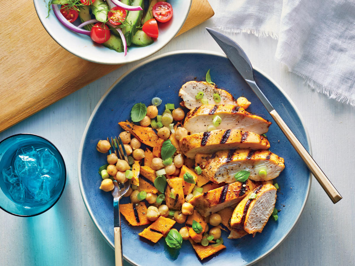 Grilled Chipotle Chicken and Sweet Potato Toss- Sunday Strategist