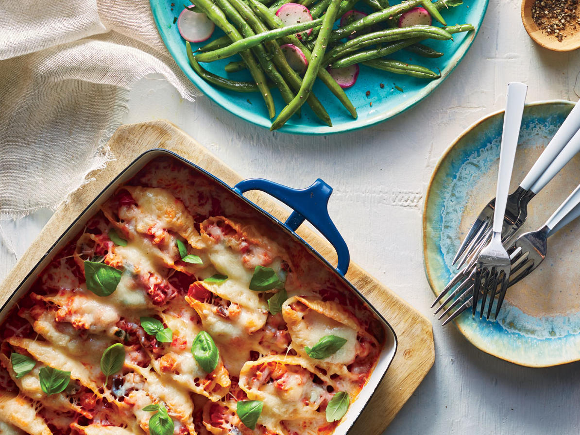 Ratatouille-Stuffed Shells